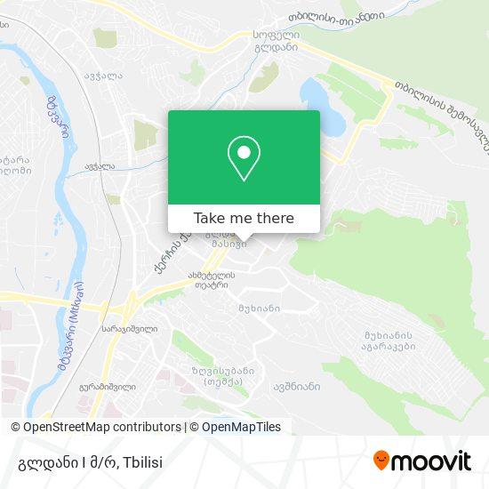 გლდანი 1 მკრ. (Gldani 1) map