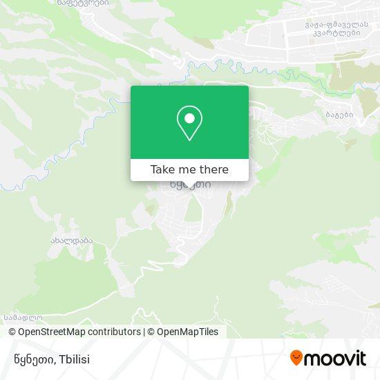 წყნეთი (Tskneti) map