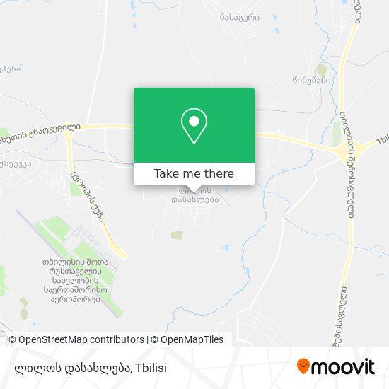 ლილოს დასახლება (Lilo District) map