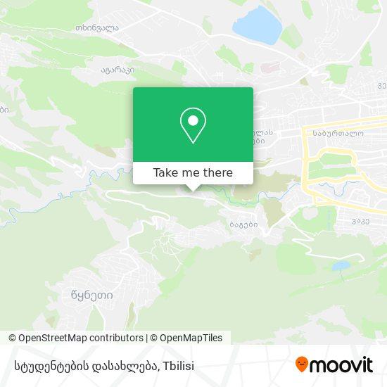 სტუდენტების დასახლება map