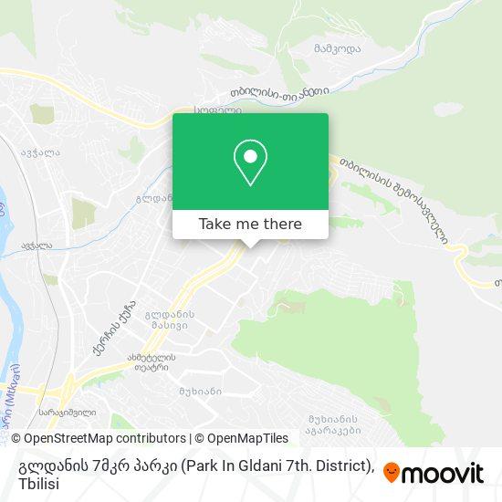 გლდანის 7მკრ პარკი (Park In Gldani 7th. District) map