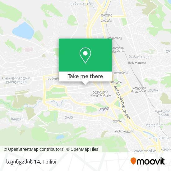 ს.ცინცაძის 14 map