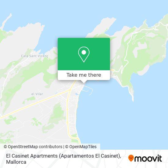 mapa El Casinet Apartments (Apartamentos El Casinet)