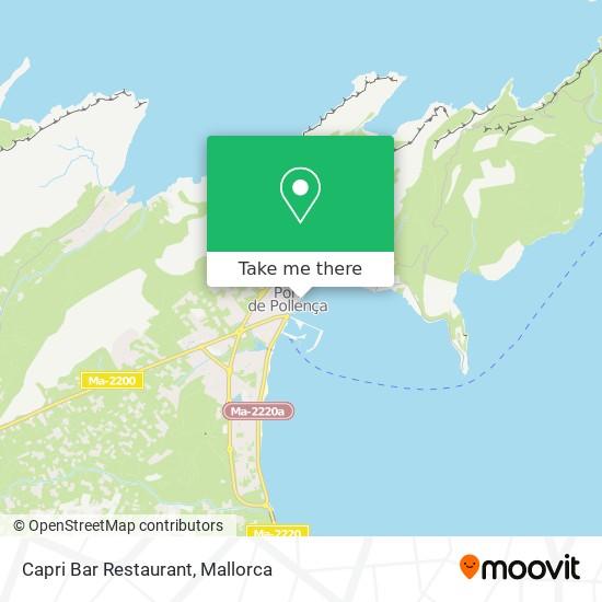 mapa Capri Bar Restaurant