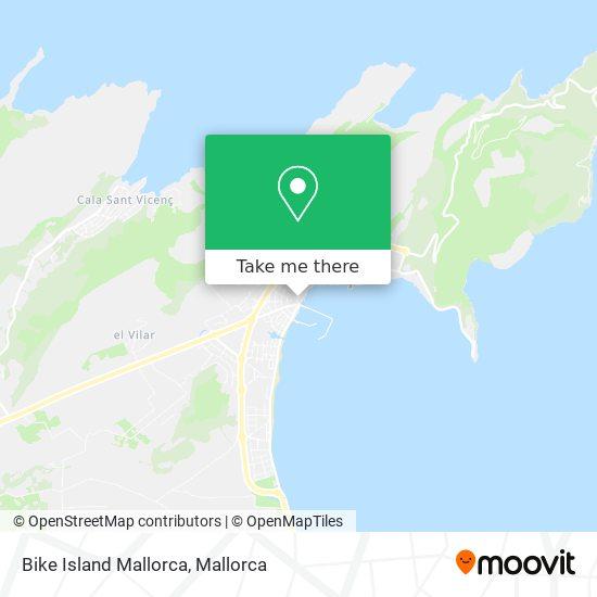 mapa Bike Island Mallorca