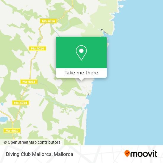 Diving Club Mallorca map