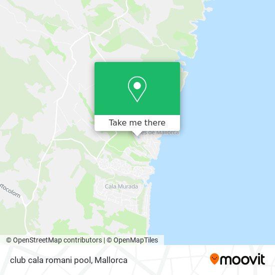 club cala romani pool map