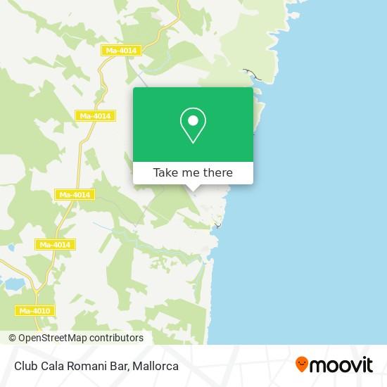 Club Cala Romani Bar map
