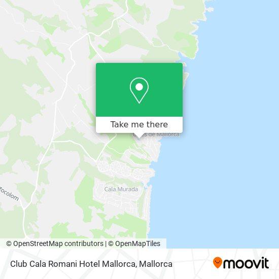 mapa Club Cala Romani Hotel Mallorca