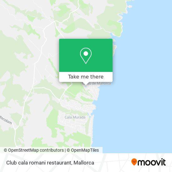 Club cala romani restaurant map