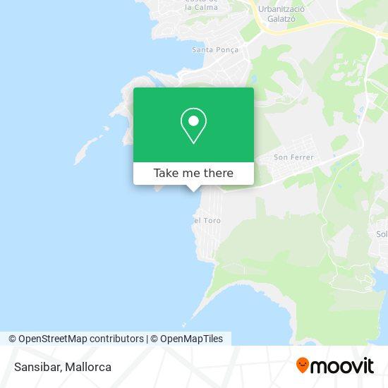 mapa Sansibar