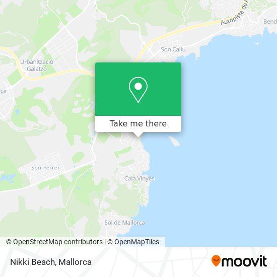 mapa Nikki Beach