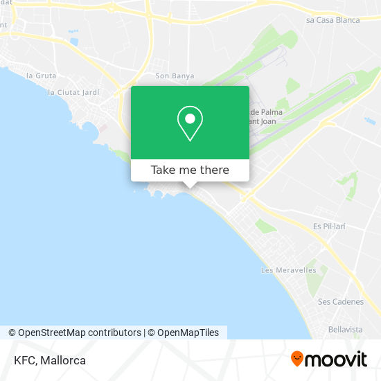 mapa KFC