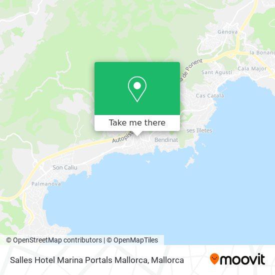 Salles Hotel Marina Portals Mallorca Karte