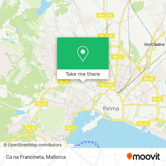 mapa Ca na Francineta