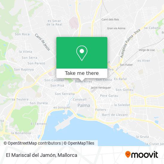 mapa El Mariscal del Jamón