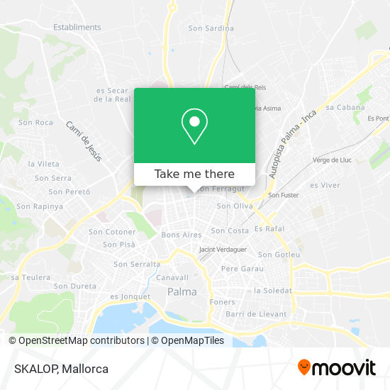 mapa SKALOP