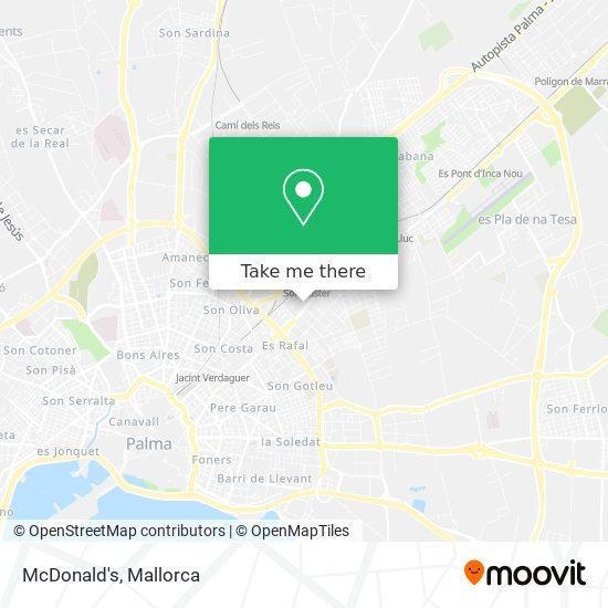 mapa McDonald's