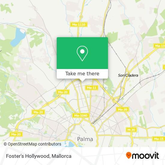 mapa Foster's Hollywood