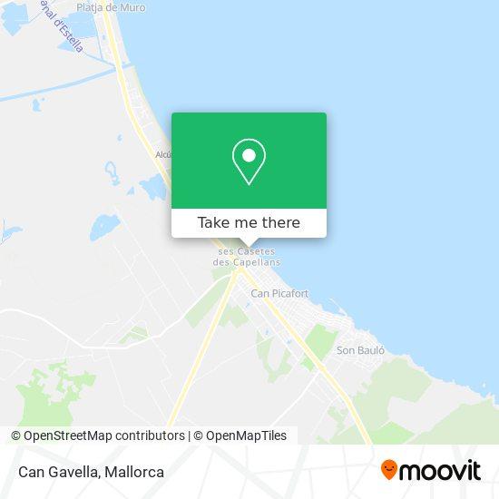 mapa Can Gavella