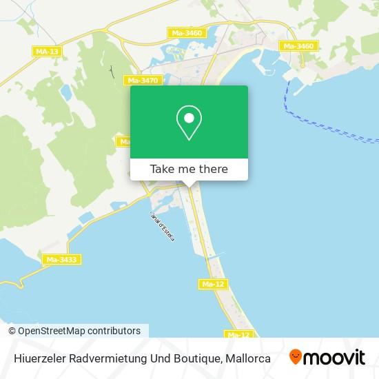 Hiuerzeler Radvermietung Und Boutique Karte