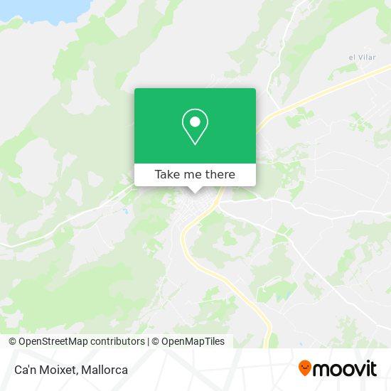 mapa Ca'n Moixet