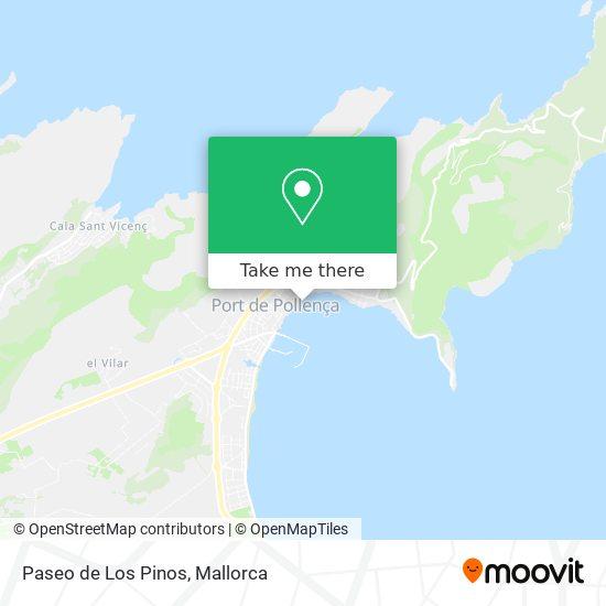 Paseo de Los Pinos Karte
