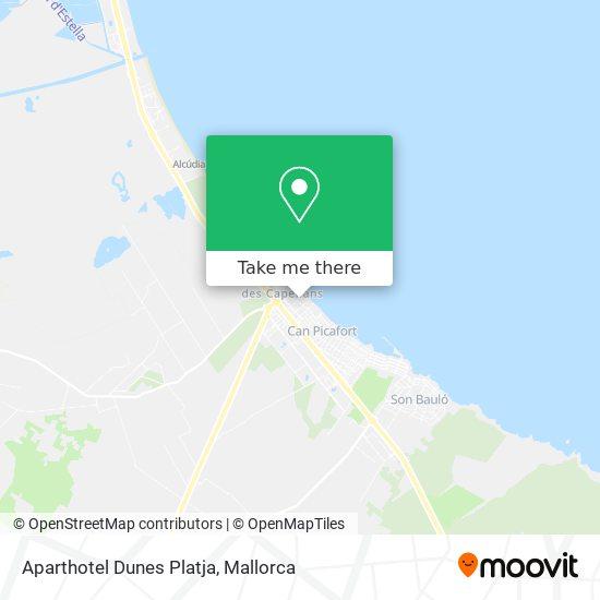 Aparthotel Dunes Platja map