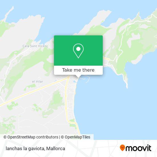 mapa lanchas la gaviota