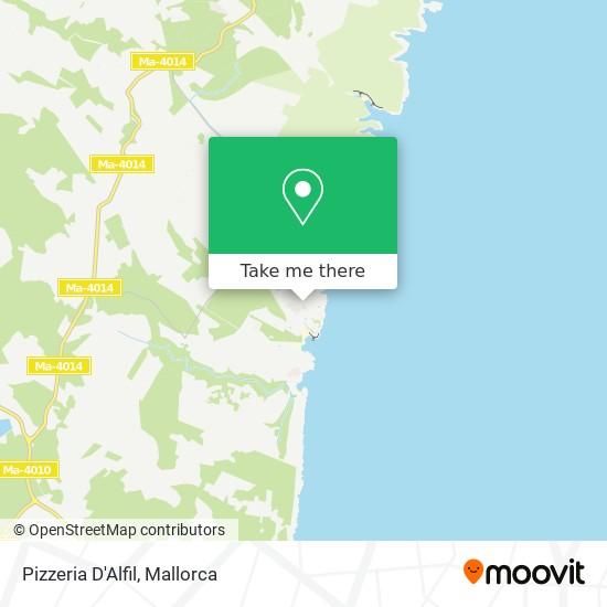 Pizzeria D'Alfil map