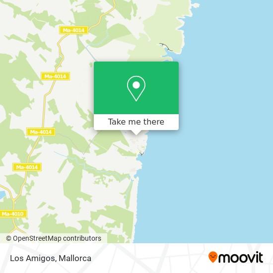 Los Amigos map