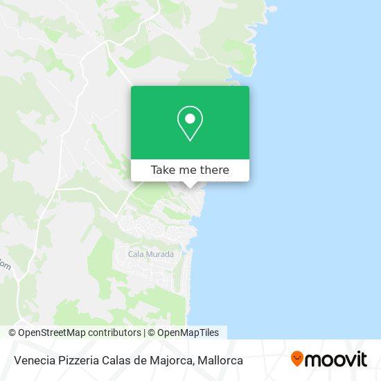 Venecia Pizzeria Calas de Majorca map