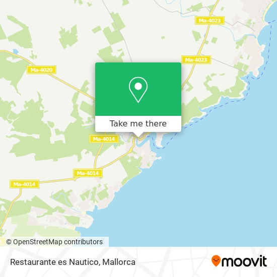Restaurante es Nautico plan