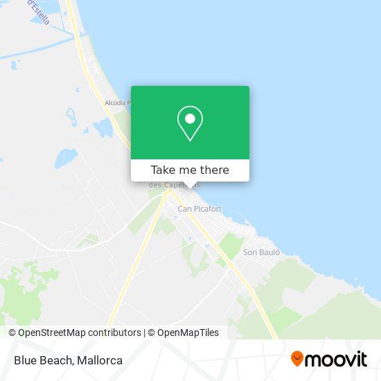 Blue Beach map