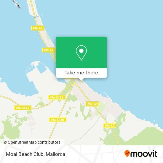 Moai Beach Club map