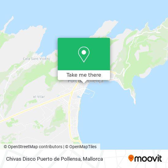 mapa Chivas Disco Puerto de Pollensa
