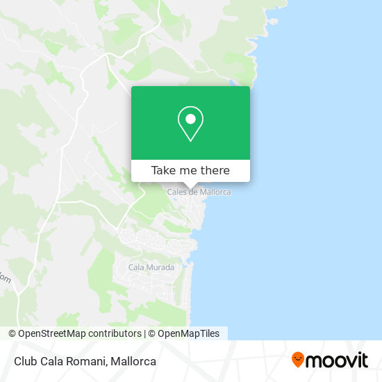 Club Cala Romani map