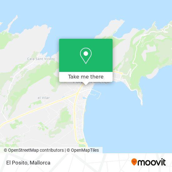El Posito map