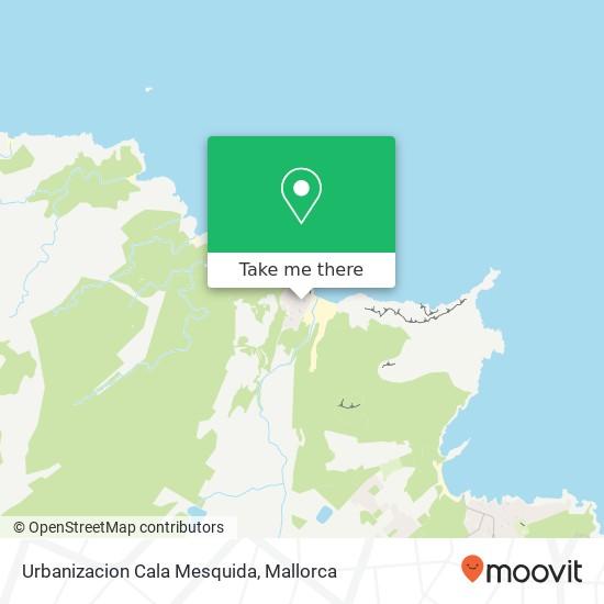 mapa Urbanizacion Cala Mesquida