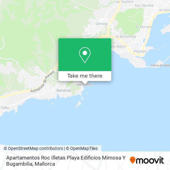 Apartamentos Roc Illetas Playa Edificios Mimosa Y Bugambilia plan