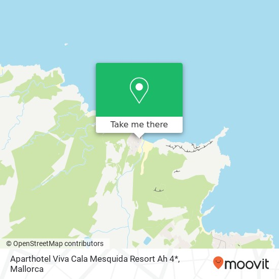 Aparthotel Viva Cala Mesquida Resort Ah 4* Karte