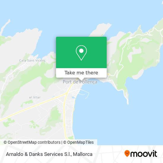 mapa Arnaldo & Danks Services S.l.