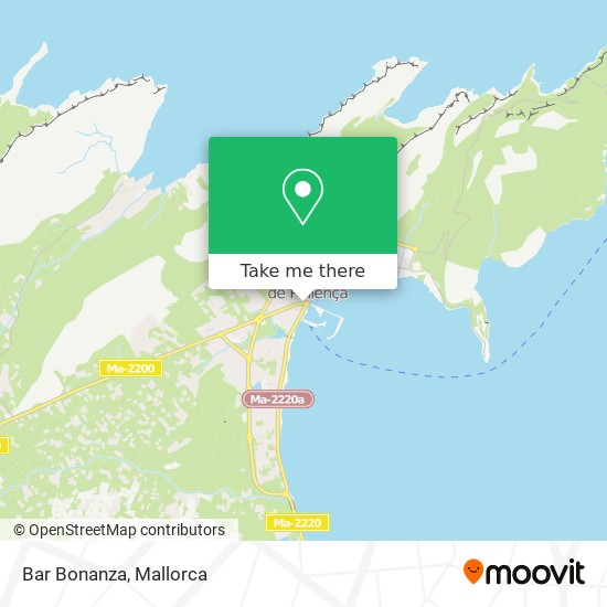 Bar Bonanza map