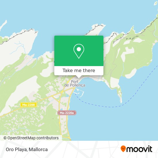 mapa Oro Playa