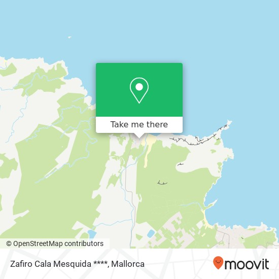 Zafiro Cala Mesquida **** Karte