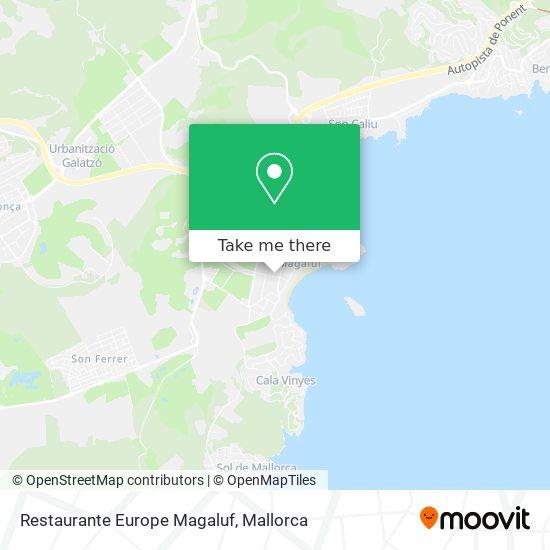 Restaurante Europe Magaluf plan