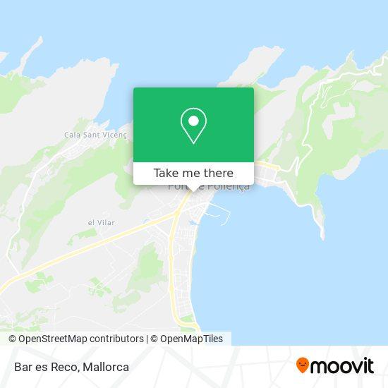 mapa Bar es Reco