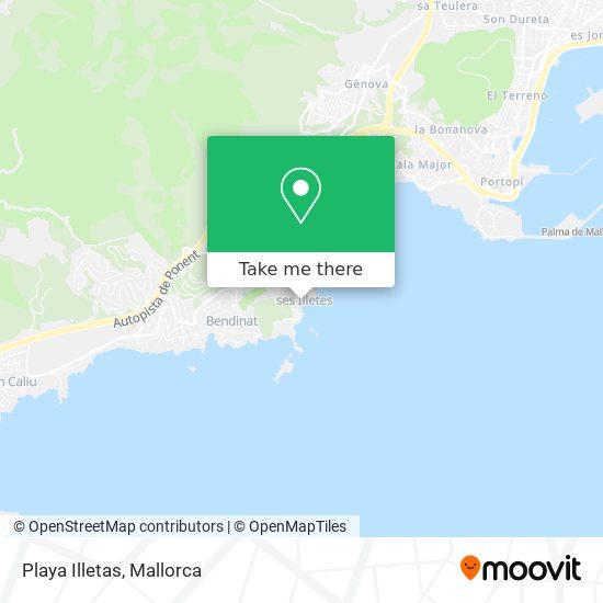 Playa Illetas plan