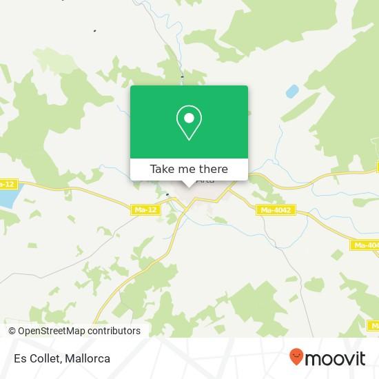 Es Collet map