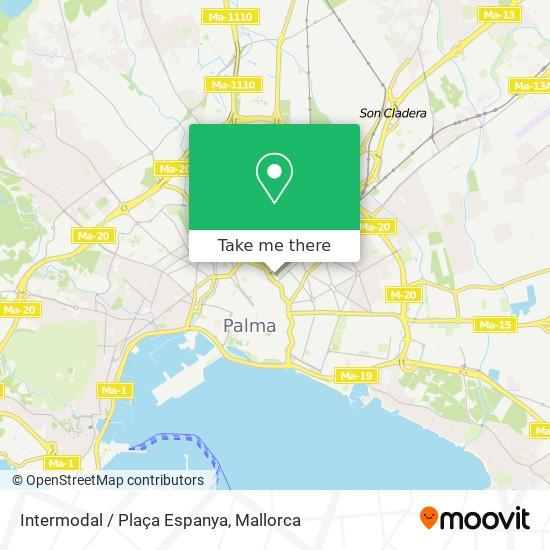 Intermodal / Plaça Espanya Karte